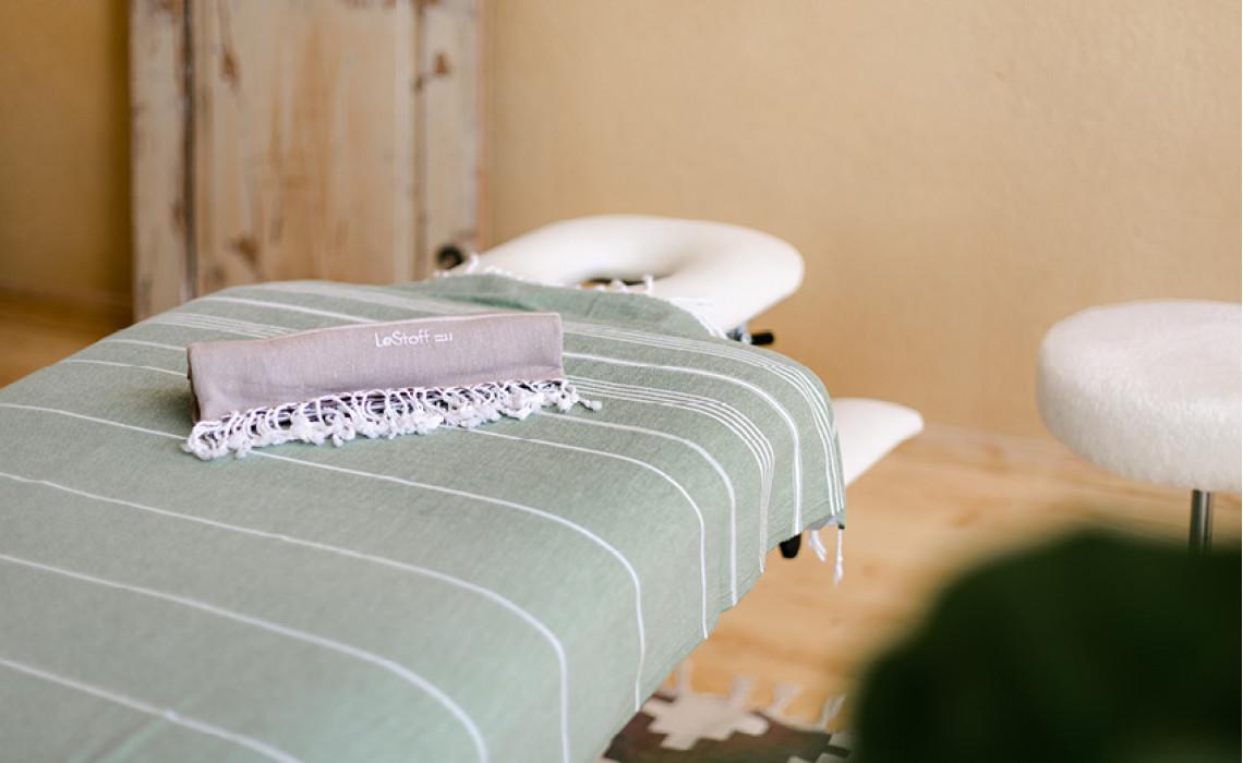 LeStoff in der Massagepraxis