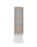 Bio-Hamamtuch Beige-Light Blue