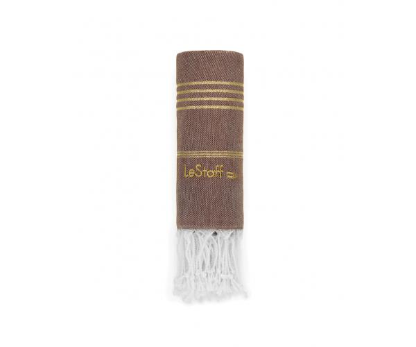 Hamamtuch Brown-Gold